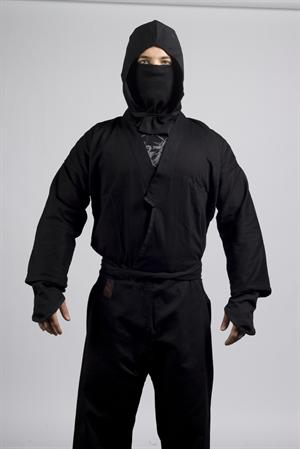 Authentic Ninja Uniform with Hood and Mask Set